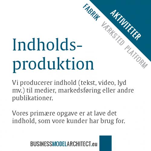 9A -indholdsproduktion